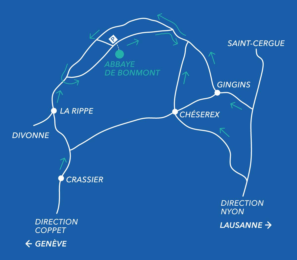 accès abbaye de bonmont